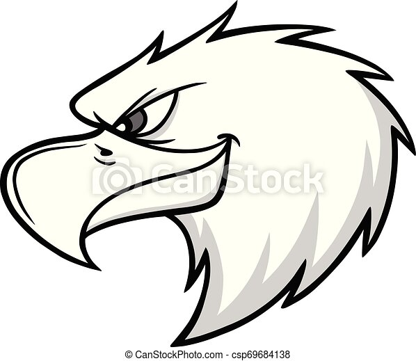 Eagle Mascot Head Illustration - csp69684138