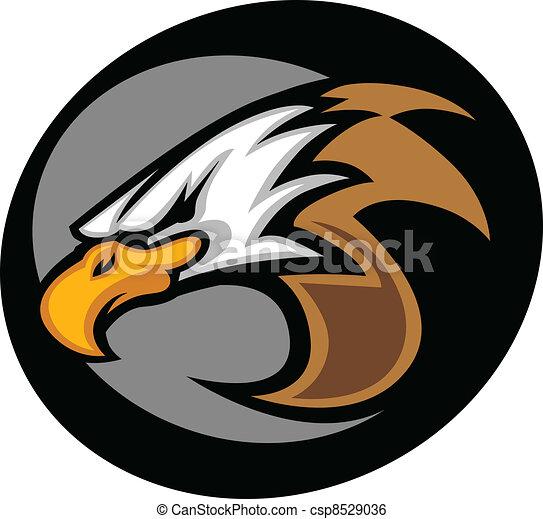 Eagle Mascot Head Vector Graphic Il - csp8529036