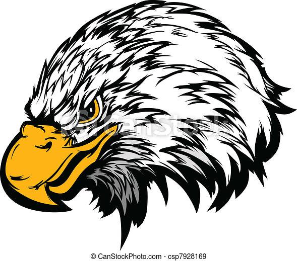 Eagle Mascot Head Vector Illustrati - csp7928169