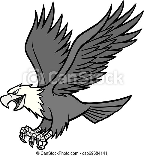 Eagle Mascot Illustration - csp69684141