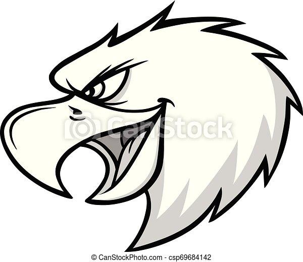 Eagle Mascot Scream Illustration - csp69684142