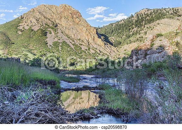Eagle Nest Rock iand Poudre RIver - csp20598870