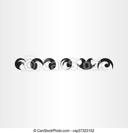 eagle or hawk bird icons set vector collection eagle or