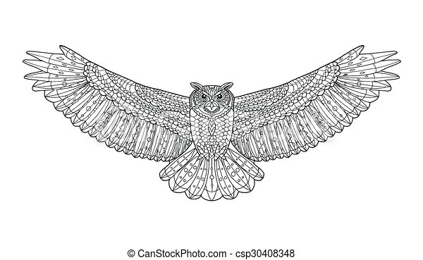 Coloring page for adults. Stern eagle on a background of a ... | 282x450