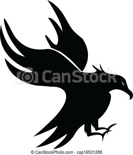 Eagle silhouette - csp16531288