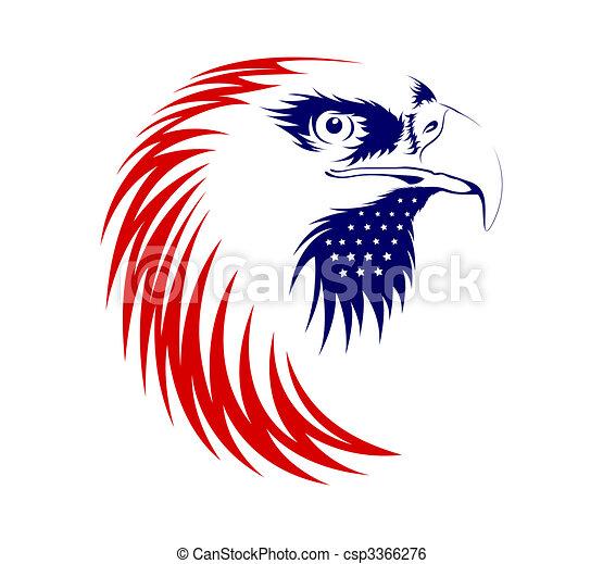 Eagle Head Isolated On White