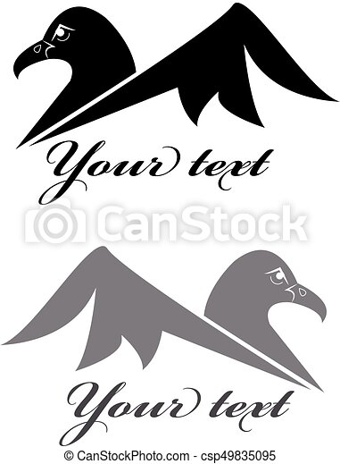 Eagle symbol isolated on white background. Vector illustration - csp49835095