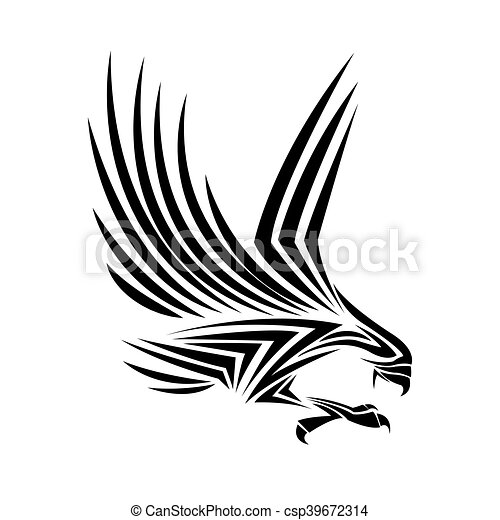 how to draw eagle tattoo