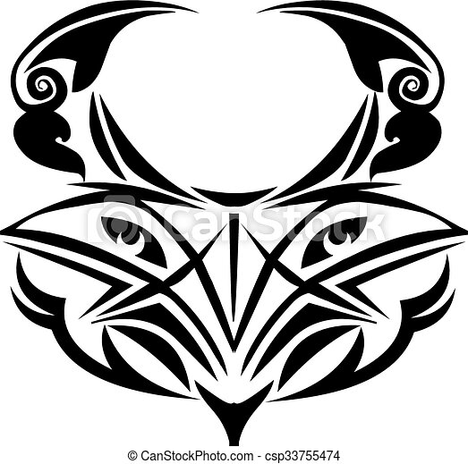 Eagle tattoo design, vintage engraving. - csp33755474