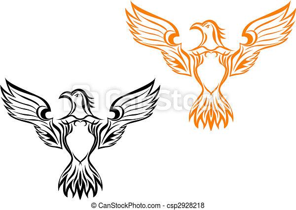 Eagle tattoo - csp2928218