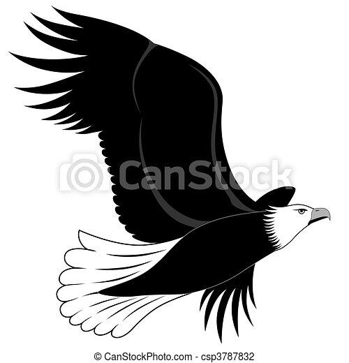 Eagle, tattoo - csp3787832