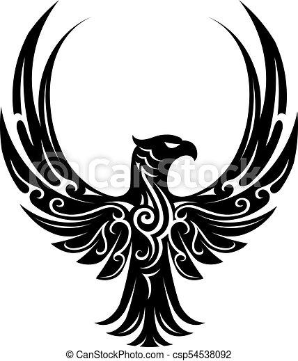 Eagle tattoo shape - csp54538092