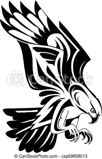 Eagle tattoo shape - csp69858013