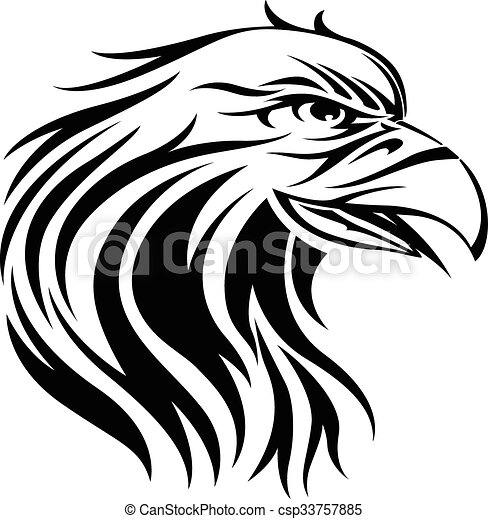 Eagle tattoo, vintage engraving. - csp33757885
