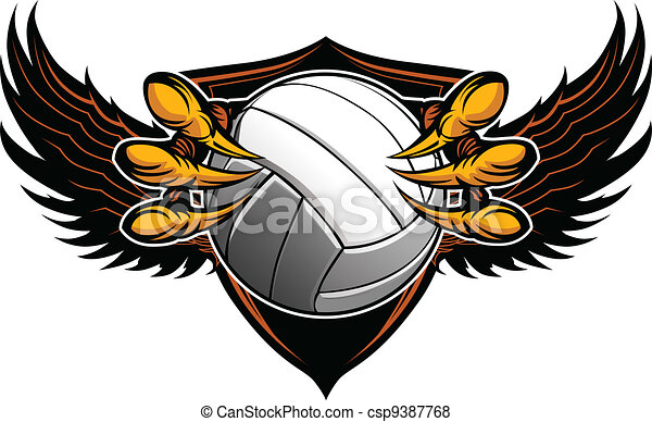 Eagle Volleyball Talons and Claws Vector Illustration  - csp9387768