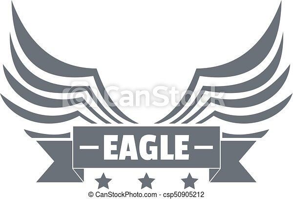 eagle wing logo simple gray style eagle wing logo simple illustration of eagle wing vector logo for web https www canstockphoto com eagle wing logo simple gray style 50905212 html