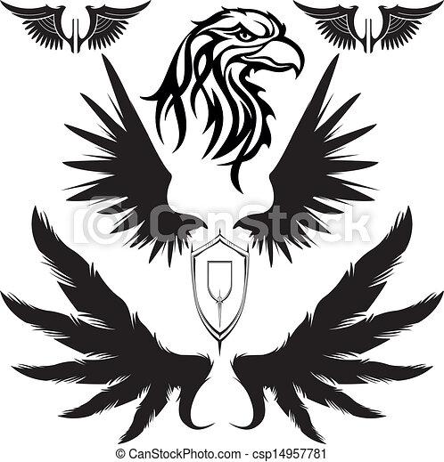 eagle wings shield https www canstockphoto com eagle wings shield 14957781 html