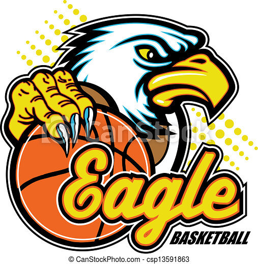 eagle with basketball - csp13591863