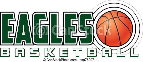 Eagles Basketball Design - csp76997111
