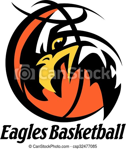 eagles basketball team design with mascot head for school vector rh canstockphoto com basketball vector free eps basketball vector free