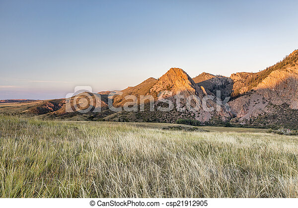 Eaglr Nest Rock at sunset - csp21912905