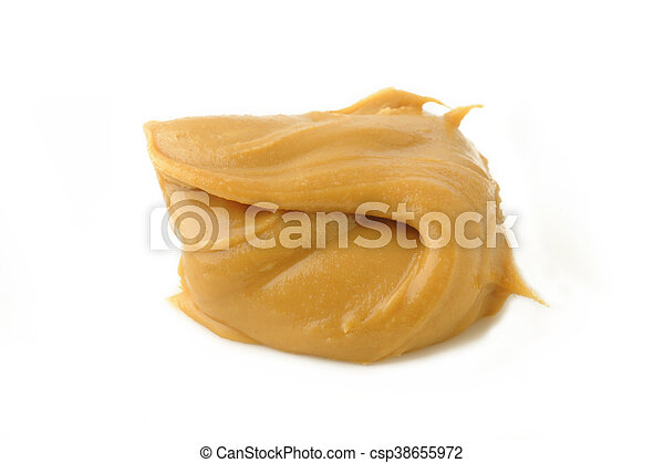 eanut butter on white background - csp38655972