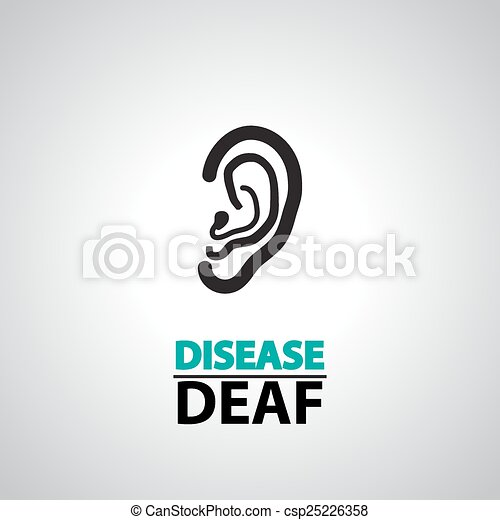 ear deaf icons and symbol - csp25226358