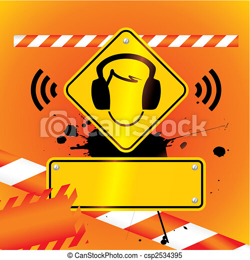 ear protection must be worn background - csp2534395
