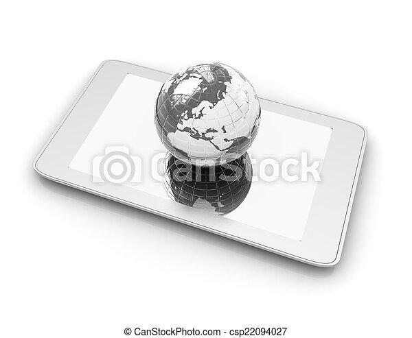 earch., internet, telefoon, globaal, concept - csp22094027