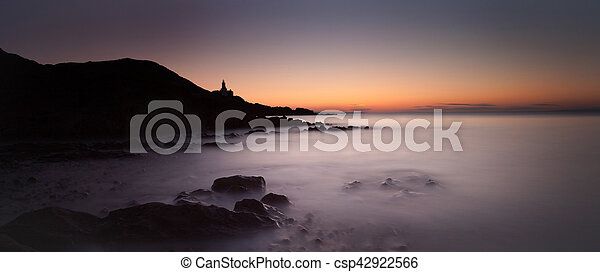 Early morning at Bracelet Bay - csp42922566
