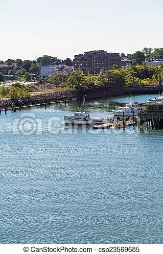 Early Morning Fishing Boats - csp23569685