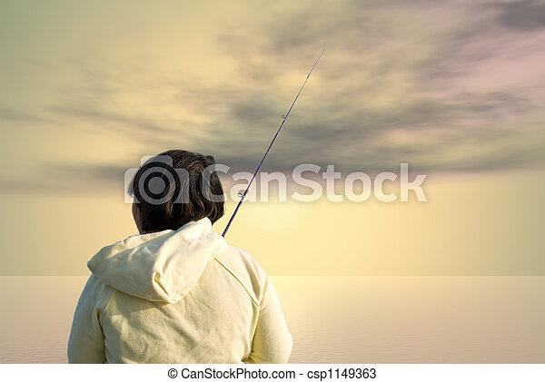 Early Morning Fishing - csp1149363