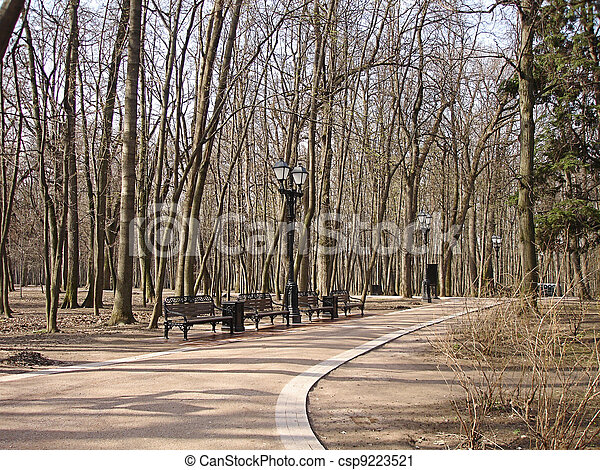 early spring in the park - csp9223521