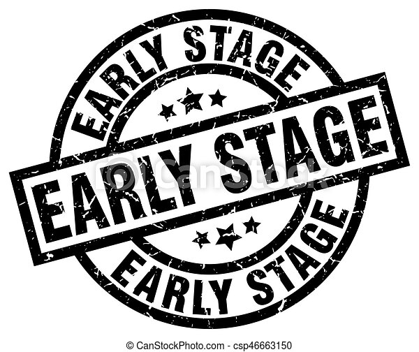 Early Stage Round Grunge Black Stamp