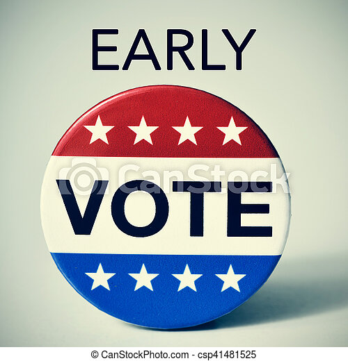 early vote in the United States election - csp41481525