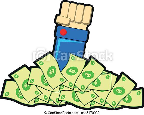 illustration of earning money vector clipart search illustration rh canstockphoto com Making Money Clip Art making money clipart