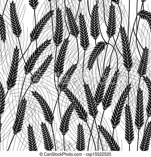 ears of wheat, barley or rye seamle - csp15522520