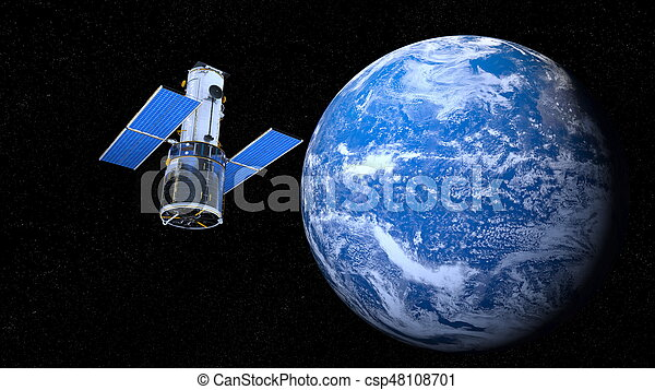 Earth and man-made satellite - csp48108701