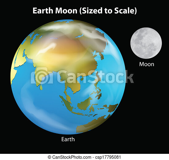 Earth and Moon - csp17795081