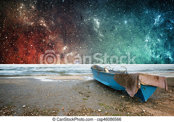 Earth and space fantasy wallpaper - csp46086566