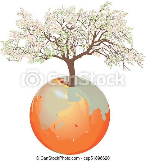 Earth - Apple tree - csp51898620