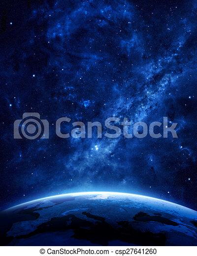Earth at night  - csp27641260