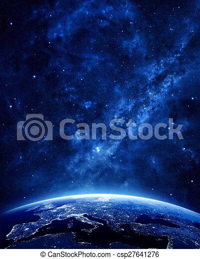 Earth at night  - csp27641276
