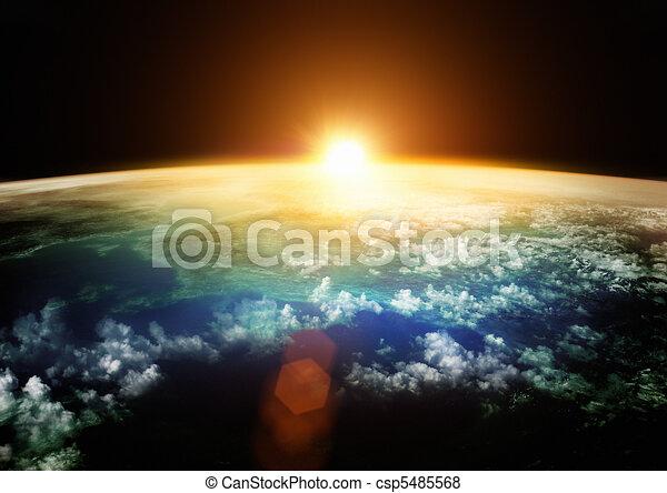 Earth - Beautiful Horizons - csp5485568