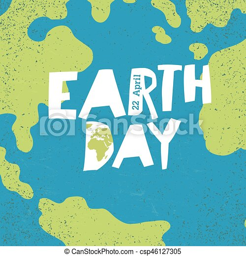 Earth day concept creative design poster for earth day earth day creative design poster for earth day csp46127305 gumiabroncs Images