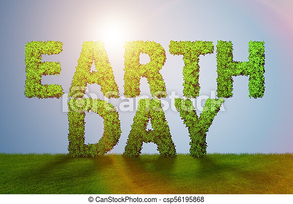 EARTH DAY. April 22. Triangular letters — Stock Vector © Ukususha ...