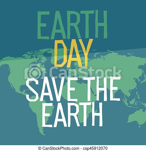 Earth day poster design in flat style similar world map background earth day poster design in flat style similar world map background vector illustration save the planet concept gumiabroncs Image collections