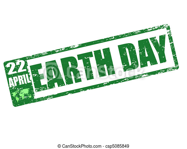 earth day stamp - csp5085849