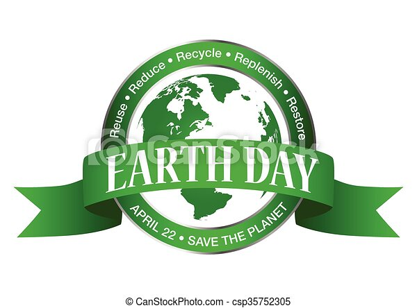 Earth Day Symbol Earth Day Icon Isolated On White Background