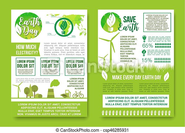 Earth Day Vector Green Energy And Nature Ecology
